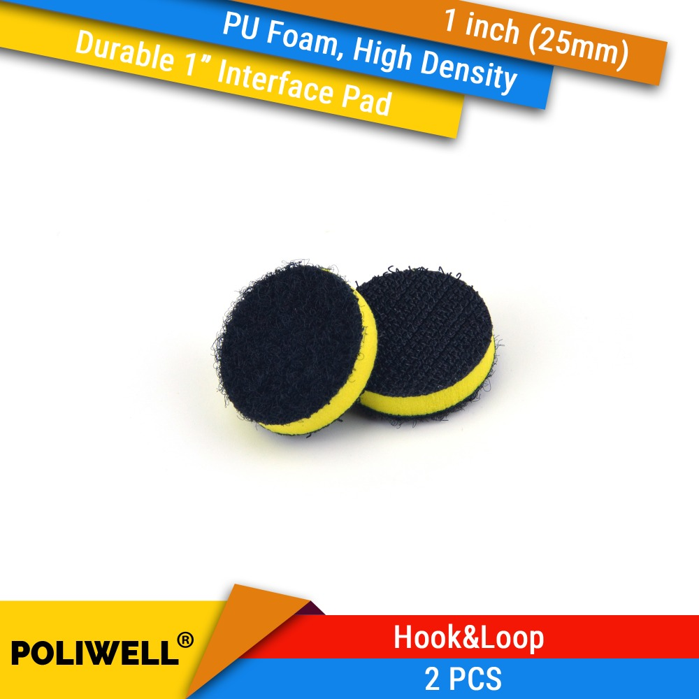 2PCS 1 Inch(25mm) High Density PU Foam Surface Protection Interface Pads For 1