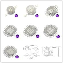 UV Purple LED Ultraviolet Bulbs Lamp Chips 365nm 375nm 380nm 385nm 395nm 400nm 405nm 3W 5W 10W 20W 30W 50W 100W High Power Light ultrafire 3w 12 led 405nm purple flashlight silver 3 x aaa