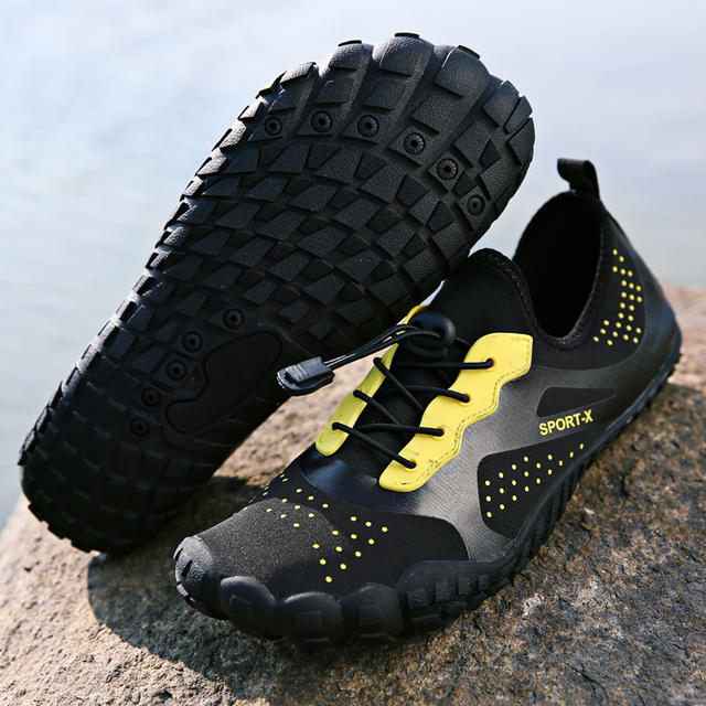 f6f9543dd Unisex Outdoor Sports Men Aqua Water Shoes Women Upstream Shoe Wader  Surfing Fishing Swimming Cycling Five Finger Beach Sneakers