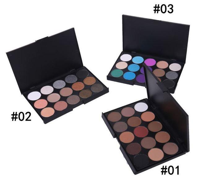 15 Cores Profissional Nu Paleta Da Sombra de Maquiagem Matte Natural Beauty Eyeshadow Palette de Longa Duração