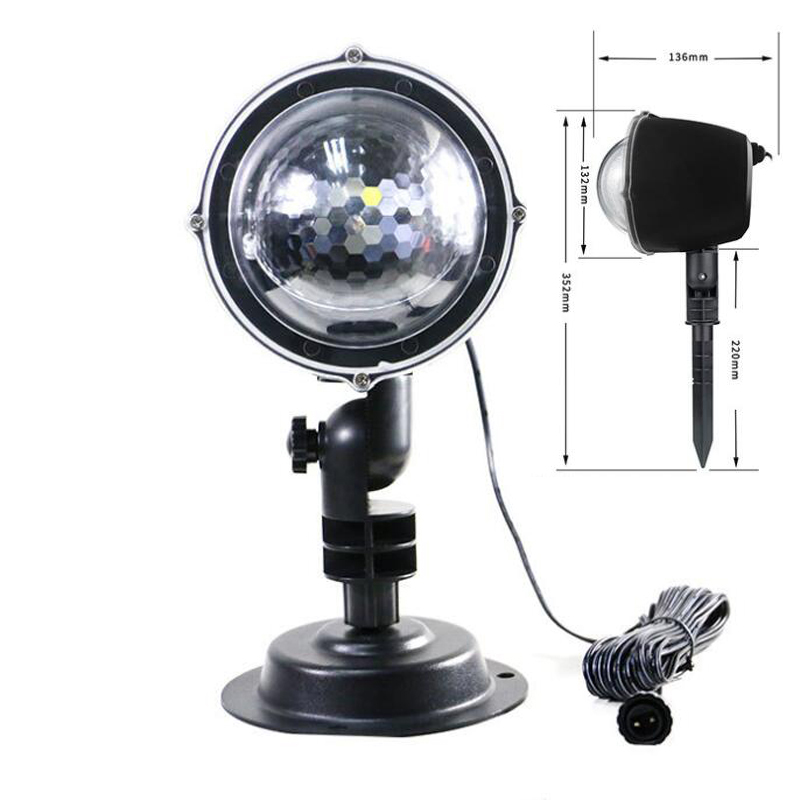 Snowfall Led Stage Lights Displays Projector Show Christmas Outdoor Indoor Rotating Snowflake Lamp Xmas Garden Landscape Decor (22)