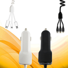 New One-and-Three Car Chargers USB Cable Charger micro/ type-c/ i6 Triple