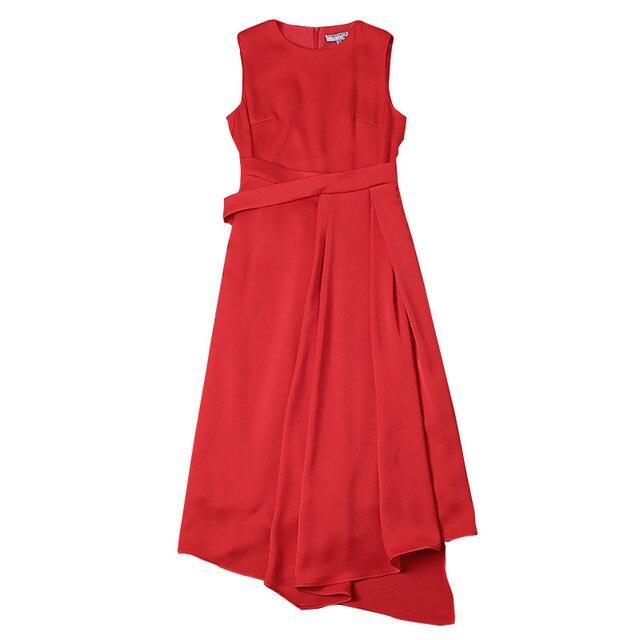 2b9085cee1 Victoria Beckham vestido 2019 de alta calidad Vestidos de verano para  mujeres de cuello sin mangas