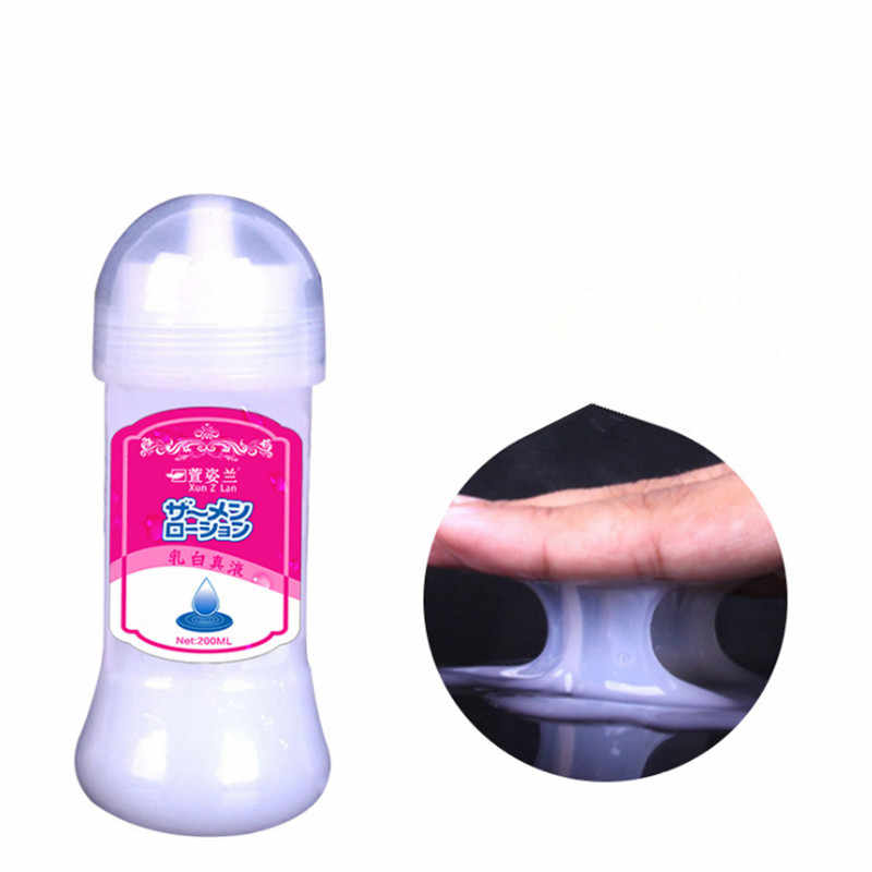 200ML Simulate Semen lubricant for sex Lube Products Water Base Personal Sex Oil Sexual anal lubricant Adult sex products