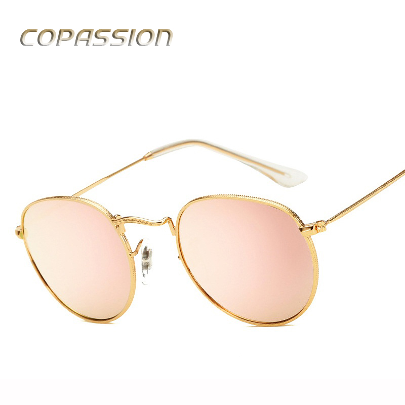 Polarized sunglasses women brand designer Classic Retro Vintage Round Sunglass Metal Frame Circle Hot Rays Sun Glasses Eyewear