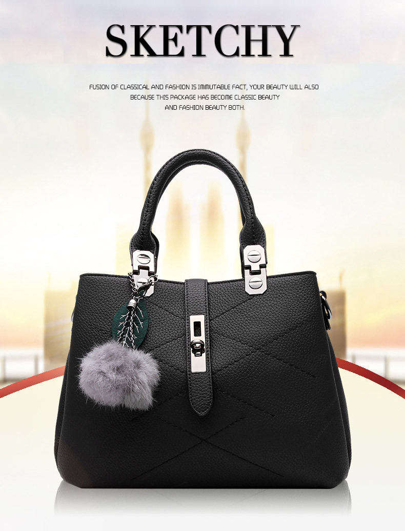 DIZHIGE Brand Fashion Fur Women Bag Handbags Women Famous Designer Women Leather Handbags Luxury Ladies Hand Bags Shoulder Sac 1