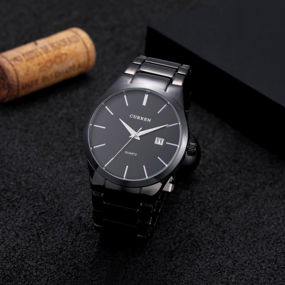 CURREN Stainless Steel Quartz Men Watch Top Brand Luxury Calendar Wristwatch Fashion Casual Boutique Black Watches Relojes 2018 цена
