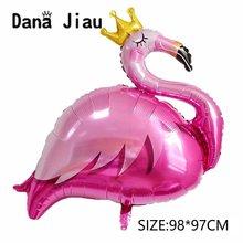 Danajiau coroa rosa flamingo folha balão ins cactus estilo feliz aniversário festa de casamento baloon decoração de casamento cisne dia de são patrício