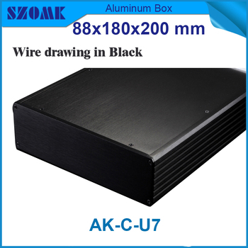 server rack cabinet aluminum junction box which is 19 inch rack housing 88(H)x280(W)x200(L) mm