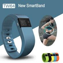 Новый smart Группа фитнес трекер Bluetooth 4.0 Браслет Смарт шагомер браслет для iPhone Samsung SmartBand TW64 PK U80 ID107
