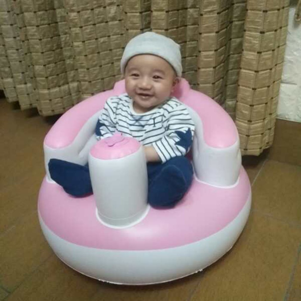 Baby Inflatable Seat Toy Soft Sofa Infant Learning To Sit Chair Keep Sitting Posture Chair For 0-6 Months Baby Bathing Swimming
