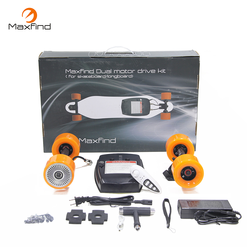 Maxfind Single Motor Electric Longboard 4 Wheels Electric Skateboards with Remote Controller Self Balance Scooters Kits strong lightning design smart balance electric skateboards two wheels adult