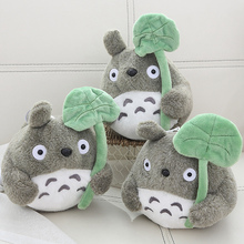 Wholesale 20 Pcs A Lot 20 cm Cartoon Movie Soft TOTORO Plush Toy Soft Stuffed Lotus Leaf   Totoro  Toy For Fans