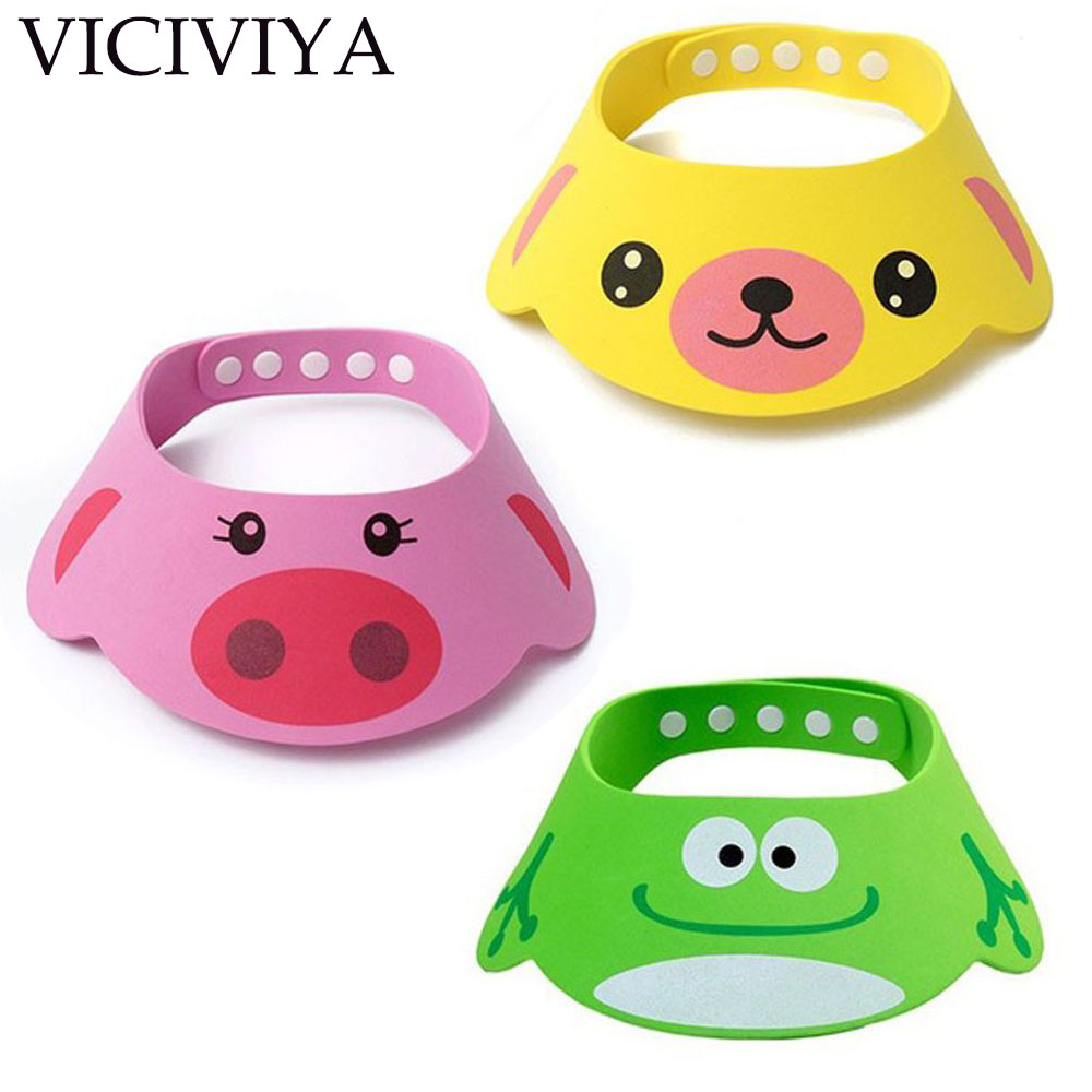 VICIVIYA Lovely Adjustable Baby Hat Toddler Kids Shampoo Bathing Shower Cap Wash Hair Visor Caps For Baby Care Bathing Hat