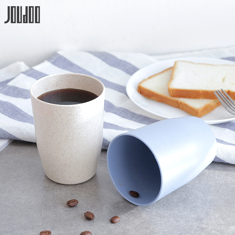 JOUDOO BPA Free Water Cup Home Wheat Straw Cup Eco-Friendly Travelling Lovers Cup Gift 10JOUDOO BPA Free Water Cup Home Wheat Straw Cup Eco-Friendly Travelling Lovers Cup Gift 10