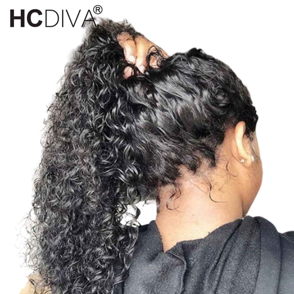 360 Lace Frontal Wig Kinky Curly Human Hair Wigs Pre Plucked With Baby Hair 180 Brazilian