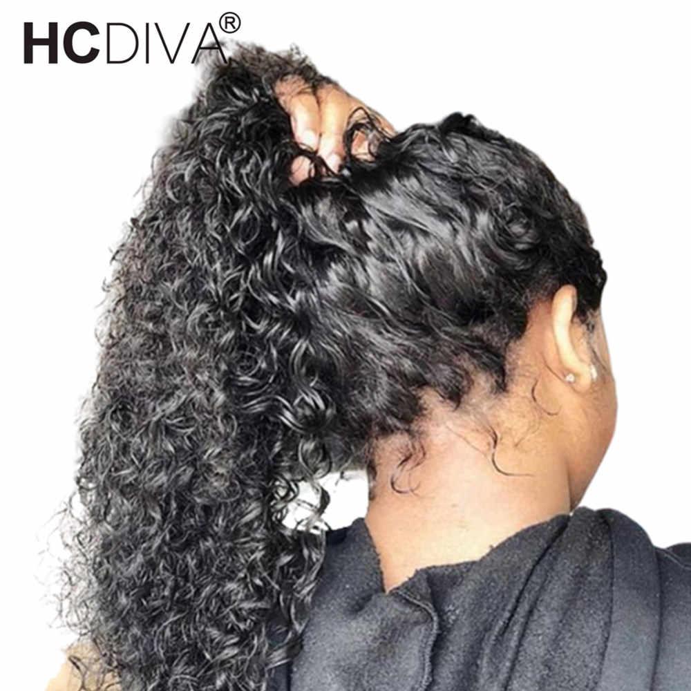 360 синтетический Frontal шнурка волос парик кудрявый вьющиеся человеческие волосы Искусственные парики предварительно сорвал с ребенком волос 180% бразильский...