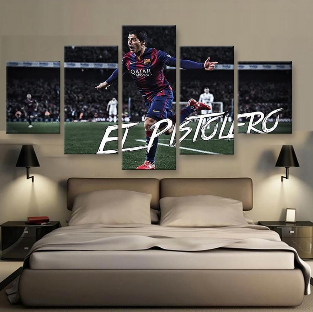 online get cheap sports artwork aliexpresscom  alibaba group -  panel canvas printed football suarez painting for living room picturewall art decor modern artwork
