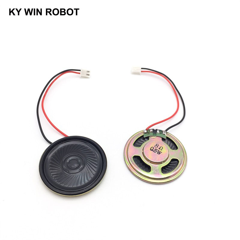 2pcs New Ultra-thin Speaker 8 Ohms 0.5 Watt 0.5W 8R Speaker Diameter 40MM 4CM Thickness 5MM With PH2.54 Terminal Wire Length 10C