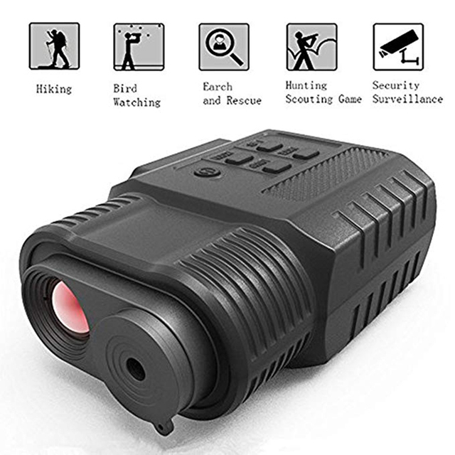 אינפרא אדום דיגיטלי ראיית לילה מכשיר 3.5X הגדלה IR כף יד משקפת וידאו מצלמה ומצלמת וידאו יום לילה להשתמש לציד