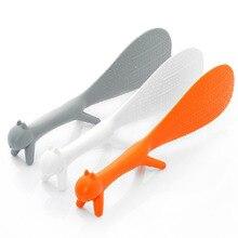 ZORASUN творческий посуда Пластик белка ложка антипригарным ложка-лопатка для риса стенд милый мультфильм белка в форме ложки