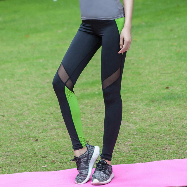 2016 Women Lady   pant Fitness Legging Quick Dry  activewear Hollow out Breathable leggings Y25113