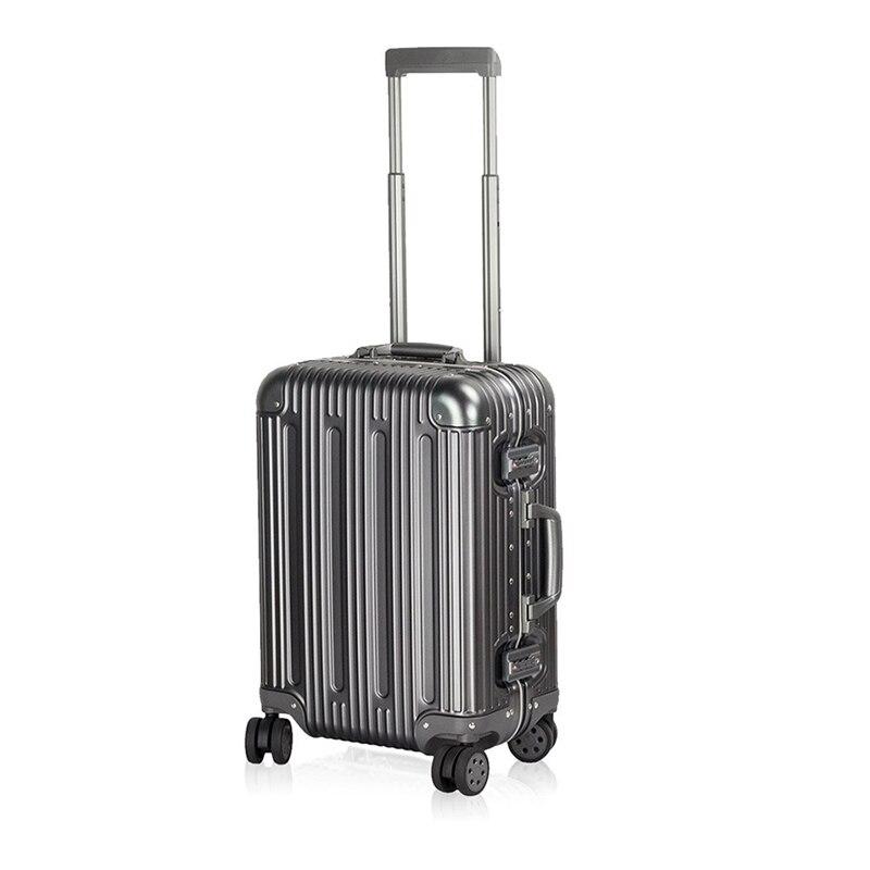 Valise de voyage en aluminium 100% multi-tailles avec coque rigide en aluminium valise de voyage avec valise à roulettes (20