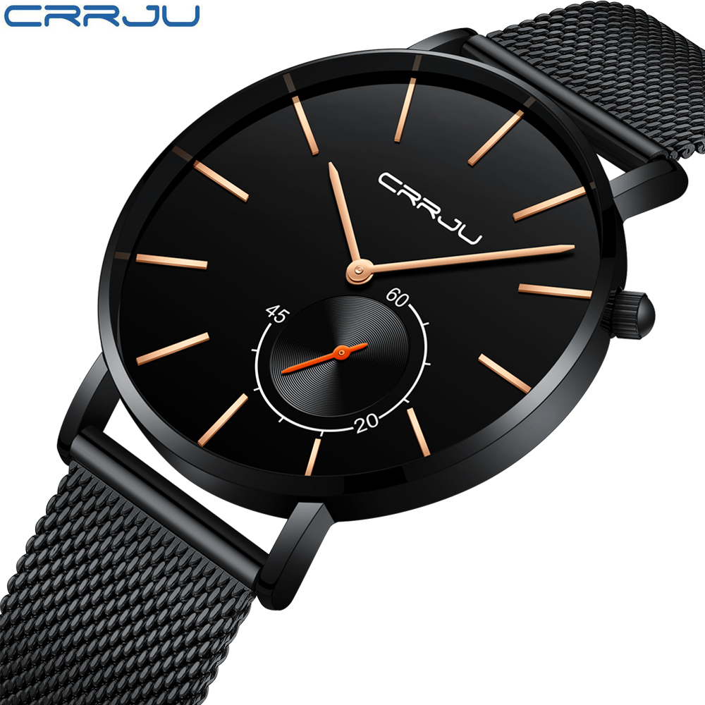 Business Watch Men Fashion Sports Quartz Clock Mens Watches Crrju Top Brand Luxury Full Steel Waterproof Watch Relogio Masculino sinboi submariner 316 full steel mens watches 2018 black rotatable fashion sports quartz men watch business relogio masculino