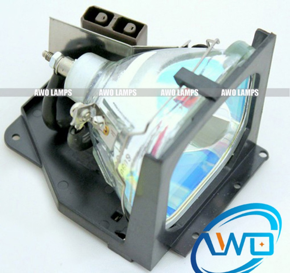 AWO Free Shipping Complete Projector Lamp Replacement LV-LP05 with Housing for CANON LV-7320 LV-7325 awo high quality projector replacement lamp sp lamp 088 with housing for infocus in3138hd projector free shipping