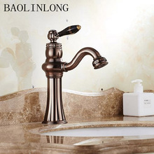 BAOLINLONG Basin Brass Bathroom Faucets Vanity Vessel Sinks Deck Mount Mixer Crane faucet Tap