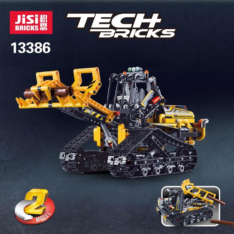 827pcs Decool Technic 2in1 Compatible Legoly 42094 Technic Tracked Loader City Model Building Blocks Bricks Boys Toys Childrens