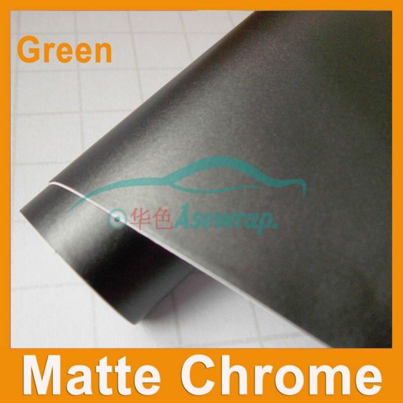 Taille de haute qualité: 1.52 * 0.3M / Rouleau métallique wrap vinyle Wrap Film Roll Bubble Free Car Styling chrome mat violet voiture vinyle wrap