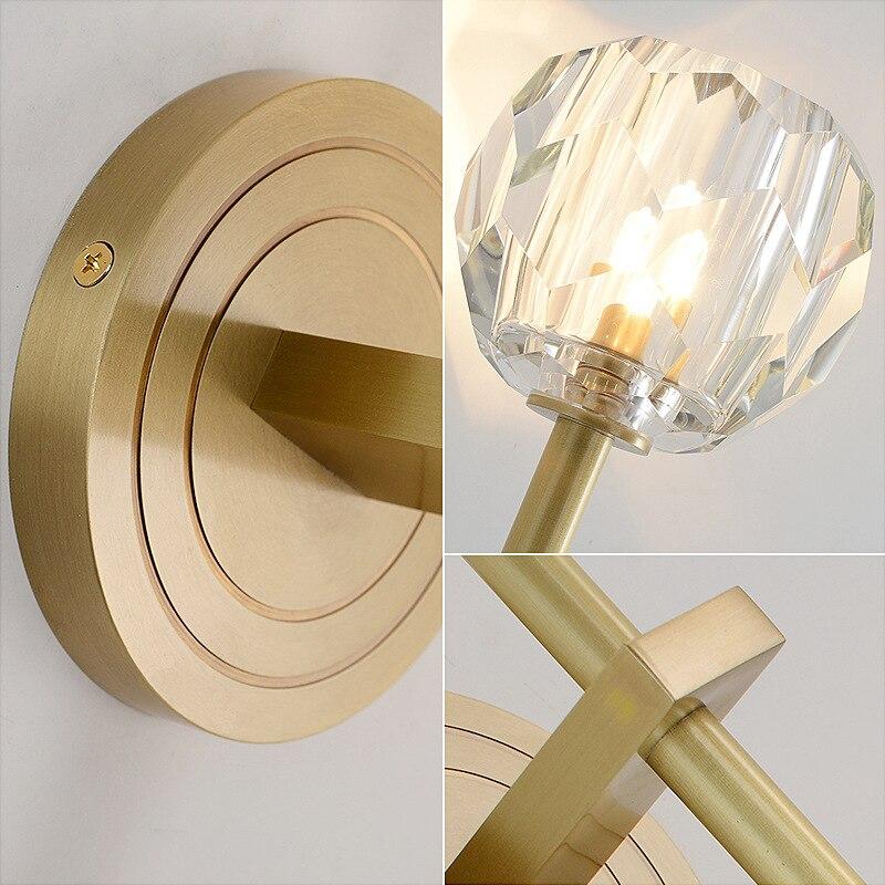 Modern Luxury de Cristal Parede Scone G9 CONDUZIU a Lâmpada de Parede para Sala de estar Quarto Luz Projeto Luz Interior Luminárias de Parede Em Casa art Decor - 4