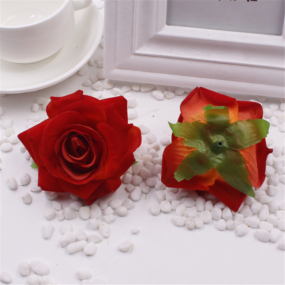 Aliexpress buy artificial rose flowers 1pcslot cheap 6cm for aliexpress buy artificial rose flowers 1pcslot cheap 6cm for wedding car decorative wedding rose scrapbooking craft flores simulation flower from izmirmasajfo