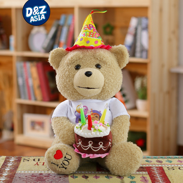 Marvelous Birthday Cake Teddy Bear Doll 1Pcs 60Cm 23Inch Ted Bear Birthday Birthday Cards Printable Nowaargucafe Filternl