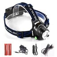 LED Headlight 2000 Lumens Head Lamp CREE XM L T6 Headlamp 18650 Rechargeable Head Light 5000mAh