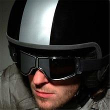 Gafas de sol de 4 colores para moto Jet Pilot, gafas plegables, Vintage