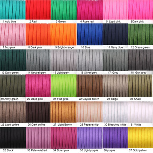 Image 2 - YoouPara 250 Colors Paracord 550 Rope Type III 7 Stand 100FT 50FT Paracord Cord Rope Survival kit Wholesale