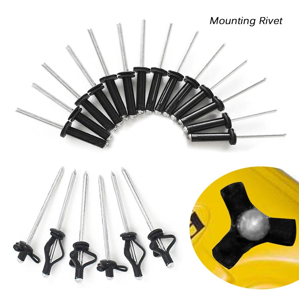 20 sztuk kajak kajak Tri Grip nit aluminium głębokie wody długi uchwyt tri-fold żarówka montaż nit łódź wiosłowa akcesoria kajakowe czarny