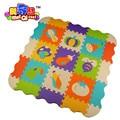 9 pçs/lote macio eva tapete quebra-cabeça quebra-cabeça do bebê jogo tapete de espuma eva dos desenhos animados tapete, Almofada de para crianças jogos de SGS