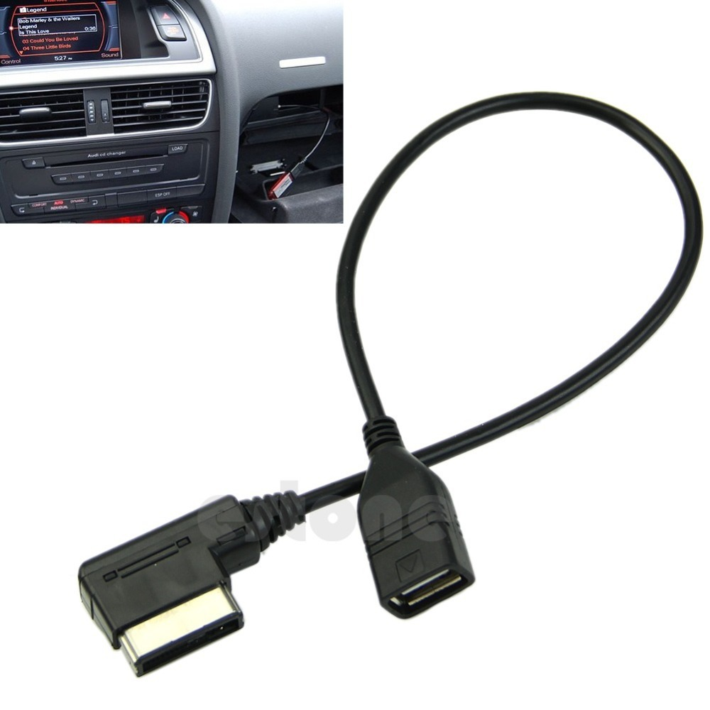 2016 New Music Interface AMI MMI AUX to USB Adapter Cable Flash Drive for Audi Car Audio image
