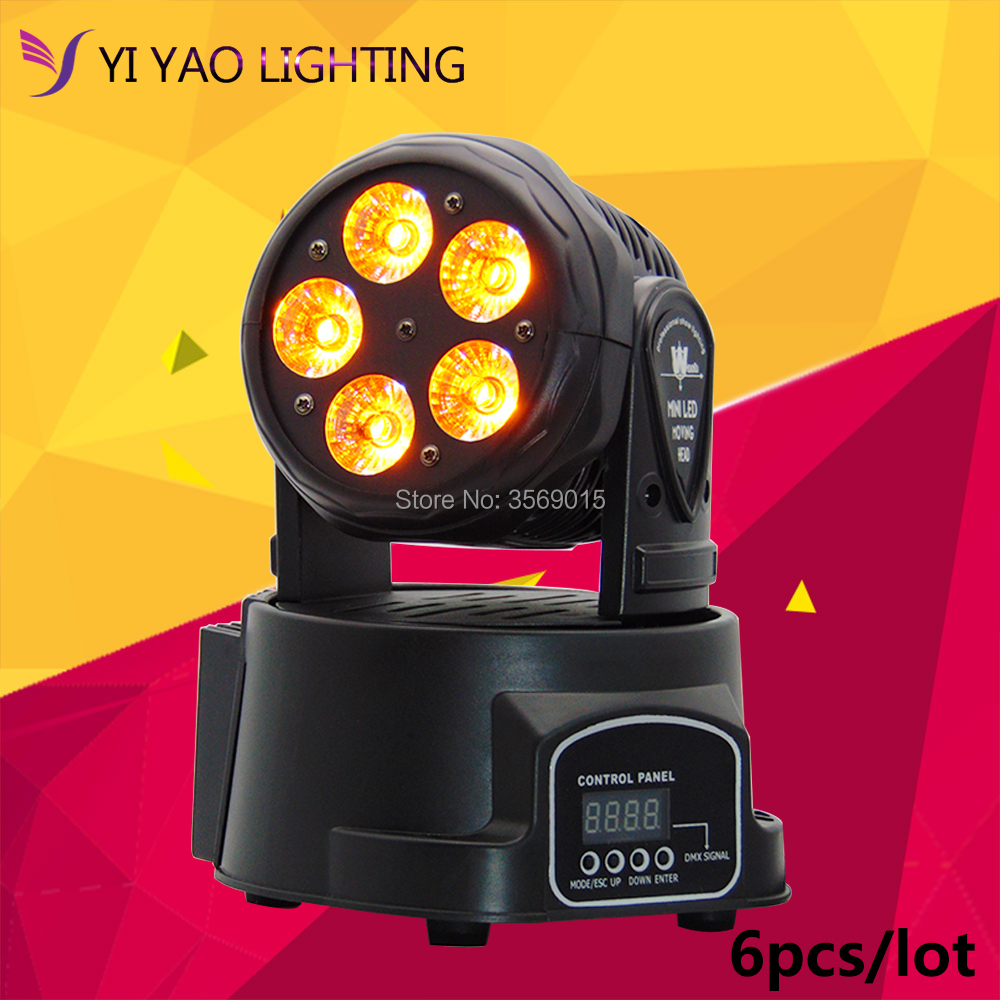 6pcs/lot Moving Head Light Stage lighting Moving Head Light RGBWA UV 6 in 1 DMX512 with 4 Control Mode for DJ KTV Disco Party 10pcs lot cheap stage light 36 15w 5 in 1 led zoom moving head wash light rgbwy color mixing dmx512 lighting control
