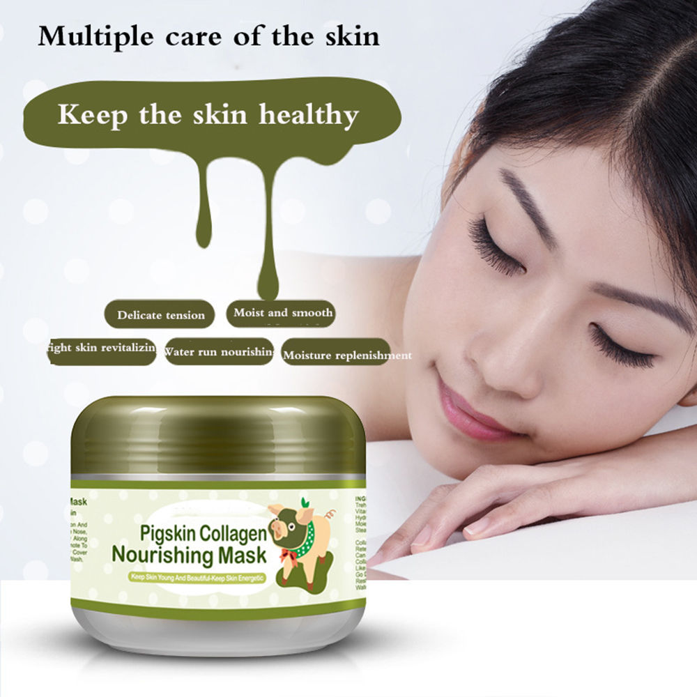 HOT Care Pigskin Collagen Nourishing Mask / Carbonated Bubble Clay Mask 100g redken mask nourishing rince out treatment