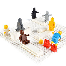 6PCS Pack Monochrome DIY Figures Set Solid Plain Rare Color Single Color Figures for Custom Design