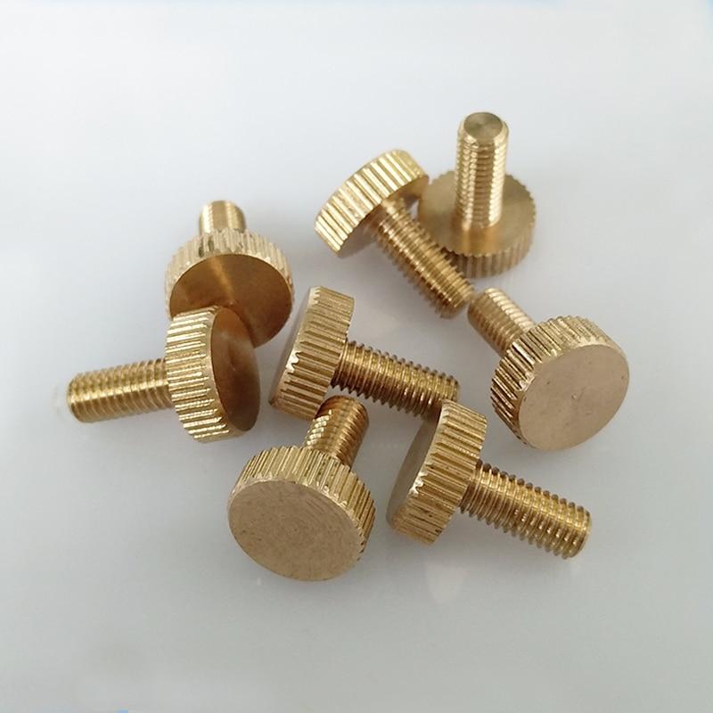 5PCS M3 M4 M5 M6 Flat Head Brass Screws Hand Twist Knurled bolts Tighten lock adjustment Copper Screw bolt|screw hand|copper screwsbrass screws - AliExpress