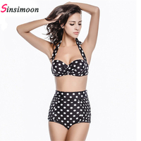 Newest Sexy Bikinis Women Swimsuit High Waisted Bathing Suits Swim Halter Push Up Bikini Set Plus