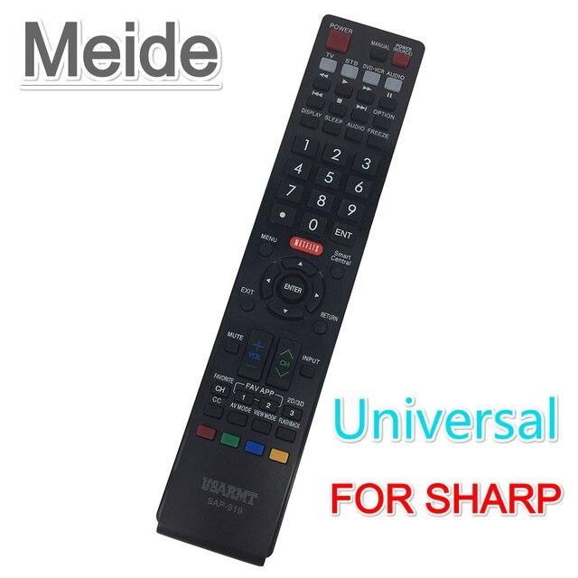 US $6 65 26% OFF|New Universal Remote Control SAP 919 Fit For SHARP TV /  RAD 3D Smart TV GA520WJSA GA591WJSA GA574WJSA etc  Remote Controller-in