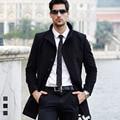 Novo casaco de lã de inverno longos e grossos casacos de lã outerwear