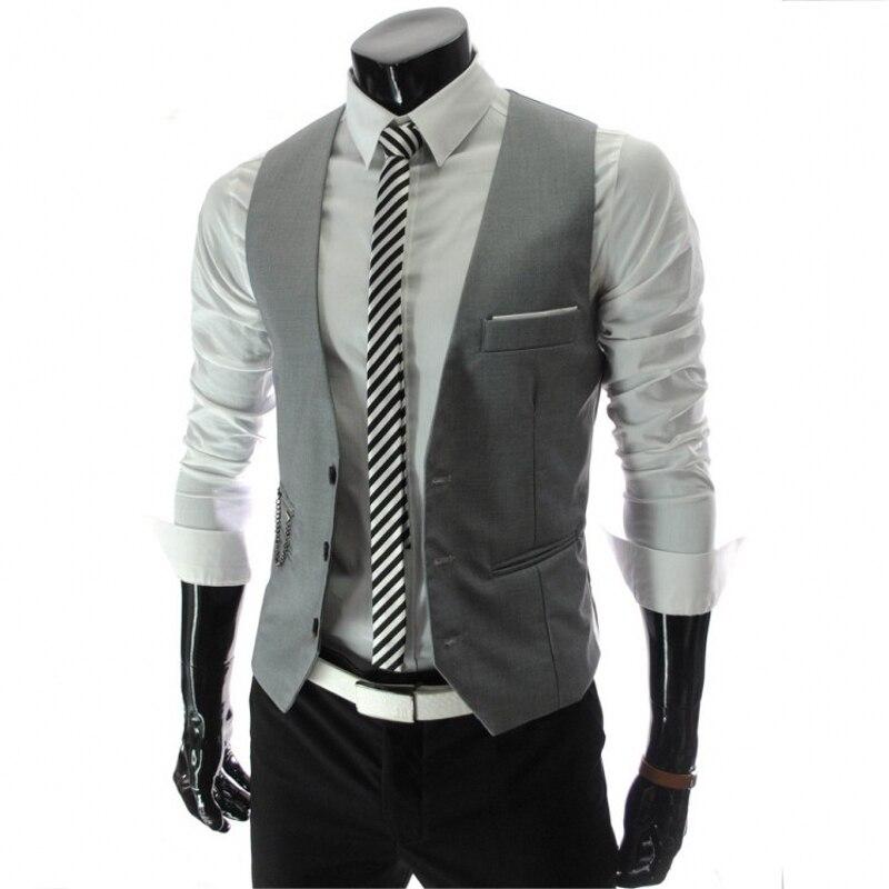 2018 Men's Custom Business City Solid Color Single-breasted 4 Color Suit Vest / High Quality Boutique Business Vest