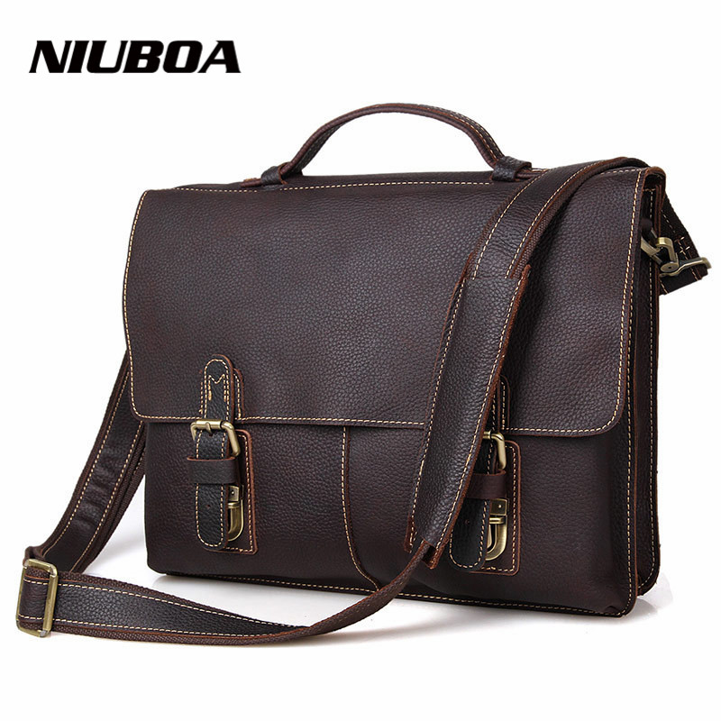 Genuine Leather Bag Business Men Bags Laptop Tote Briefcases Natural Cowhide Crossbody bags Shoulder Handbag Men's Messenger Bag yishen genuine leather bag men bag cowhide men crossbody bags men s travel shoulder bags tote laptop briefcases handbags bfl 048